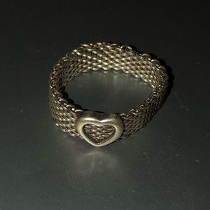 Tiffany and Co. mesh heart ring